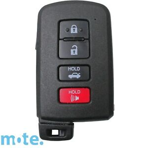 Compatible With Toyota Avalon/Corolla/Camry 4 Button Smart Remote Key Shell/Case