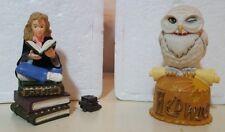 Dept 56 Harry Potter Secret Boxes Hermione Bookworm & charm & Hedwig Owl 2000 Le