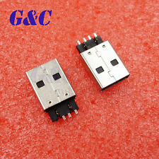 20PCS USB 2.0 4PIN A Type Male Plug Connector USB Jack 180° Sink SMT SMD