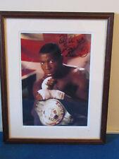 "HAND SIGNED - Frank Bruno - Framed Photo - 15""x12"" - 1995 -  Boxing Champion"