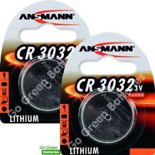 2 x Ansmann CR3032 3V Lithium Coin Cell Battery 3032, DL3032, BR3032, ECR3032
