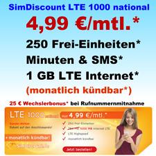 Vertrag ohne Handy nur 1 Monat Laufzeit Handyvertrag mit LTE 1 GB Internet Flat