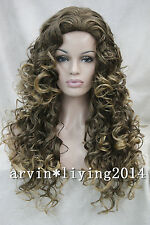 16 color Ladies Wig Long Curly Black Brown blonde red  Natural Hair for Women