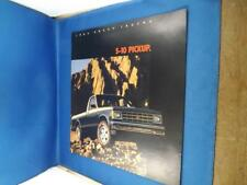 1985 CHEVY TRUCKS S-10 PICKUP SALES DEALER BROCHURE ADVERTISING OPTIONS FACTS