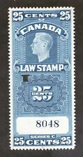 Canada Scott FSC24 - 25 Cent Law Stamp. Used. Punched.  #02 CANFSC24