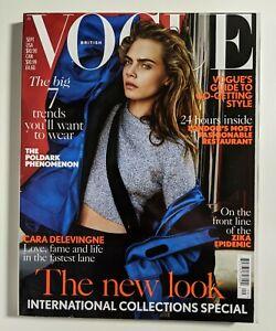 Vogue Magazine UK Cara Delevingne cover September 2016