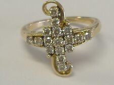 VINTAGE LADY'S 14 k GOLD DIAMOND RING 0.69 CT TW  SIZE 7,25