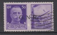 ITALY RSI (Social Rep) Sassone n.22A War Propaganda - cv 130$  used  RARE