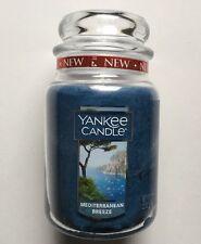 Yankee Candle MEDITERRANEAN BREEZE 22 oz LARGE JAR FRESH SCENT HTF