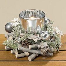 Windlicht Kranz Tanne D 15 cm Windlichtglas Teelichtglas Weihnachtsdekoration