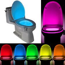8 Colors LED Toilet Light Bowl Motion Sensor Bathroom Night Lamp Creative