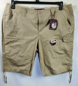 Gloria Vanderbilt Bermuda Shorts Plus Size 16W Khaki Midrise NWT