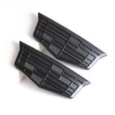 2x Matte Black L&R Fender Emblem Stickers for Cadillac ATS CT XT4 5 6 S Escalade