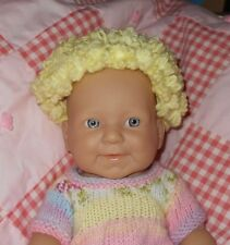 Cabbage Patch Size 11/12 New Replacement Yellow Yarn Partial Cap Doll Wig~NEW