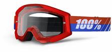 100% MASCHERA OCCHIALE STRATA BOSS ROSSO RED MOTO CROSS ENDURO MTB DOWNHILL