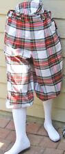 New Men -Dress Stewart Golf Knickers Tartan/Plaid Golf Knickers-Cap & socks