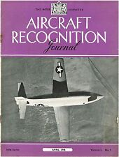 AIRCRAFT RECOGNITION JOURNAL APR 48: SIMPLE SUPERSONICS/ FUTURISTIC PROTOTYPES