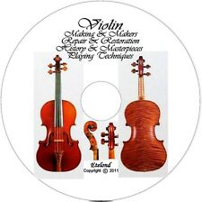 VIOLIN FIDDLE LIBRARY Making Repair Restore How to Make Varnish PLAY Courses CD