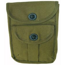 Rothco 9002 2 Pocket Canvas Ammo Pouch - Olive Drab (O.D.)