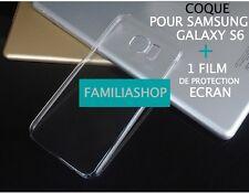 Housse étui pochette coque cristal rigide transparent samsung galaxy S6 + Film