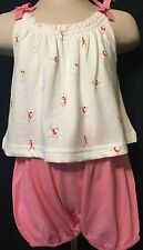 New/Tags 0-3 Month Baby Gap Girl's One-Piece 100% Cotton Outfit