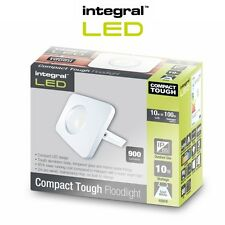 Integral LED Floodlight Compact Tough IP65 10w White Cool White Outdoor Light