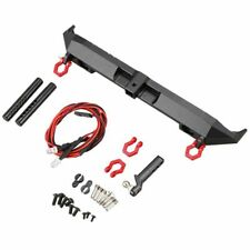 Metal Rear Bumper with D-Rings LED Light for 1/10 RC Cler Car Axial SCX10 I Q9R8