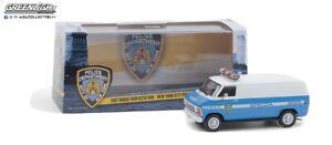 GREENLIGHT 86577 1987 Dodge Ram B250 Van NYPD Diecast Model 1:43