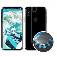 atFoliX 3x Lámina Protectora para Apple iPhone X transparente&flexible