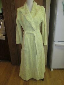 Vintage Yellow Chenille Robe