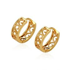 Delicate Yellow Gold Plated Cutout Hoops Huggies