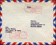 Columbia 1980 Machine cancel Cover To Switzerland #C38245
