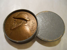 BRONZE ART MEDAL FRENCH PAINTER CLAUDE MONET GIVERNY Water Lilies