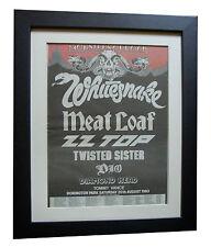 MONSTERS OF ROCK FESTIVAL+POSTER+AD+RARE ORIGINAL 1983+FRAMED+FAST GLOBAL SHIP