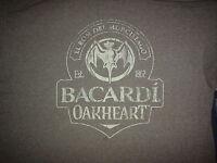 Bacardi Oakheart Black Pennant Brand New