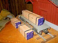 O Scale,  O Gauge  Flat Car Load Real Red Oak Lumber Handmade