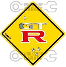 GTR - METAL TEXT  - Bullet Hole Road Sign Sticker #56