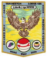 Boy Scout Order of the Arrow Tah Heetch Lodge 195 OA Flap NOAC 2020 Patch Set