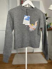 🐘🦋 Zara Disney Dumbo Knitted Jumper sweater Grey Size L elephant BNWT