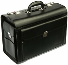 Pilot Case Flight Doctors Quality Briefcase Laptop Work Cabin Luggage Bag 6913