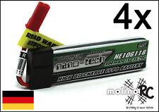 4x Turnigy nano-tech 600mah 1S 35~70C NEU Lipo Akku 3,7V Blade 120 SR MQX