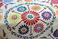 Vintage Kutch Krishna Gopala Welcome Wall Hanging Tapestry Old Hand Embroidery