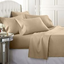 Luxury Home Super Soft 1600 6-Pc Bed Sheets Set - Twin