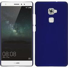 Hardcase for Huawei Mate S rubberized blue Cover + protective foils