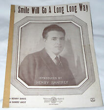 A Smile Will Go A Long Long Way - Davis/Akst 1923 Henry Santrey photo