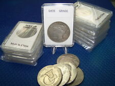 10 Coin Holders Slab Style ** for US Morgan or Pease Dollar** -- size 38 mm**