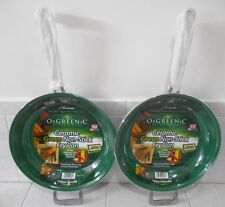 "ORGREENIC CERAMIC GREEN NON - STICK 12 "" FRYING PAN ( QTY OF 2 )"