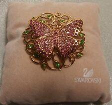 "Edition 2002 1806498 New Swarovski Silver Crystal Jewellery""Beauty Brooch""Annual"