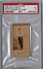 1887 N172 Old Judge Smiling Al Maul Pitching Hands At Chest PSA 5 EB4