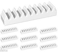10 Lego WHITE racks  (mindstorms,robot,gear,linear,technic,rack,ev3,nxt,slide)